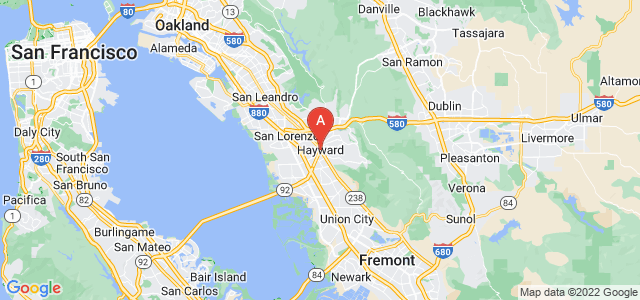 map of Hayward, United States of America