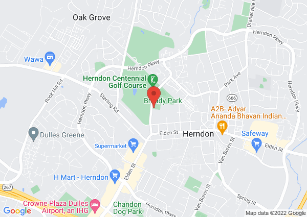 Map of Herndon Community Center, Ferndale Avenue, Herndon, VA, United States