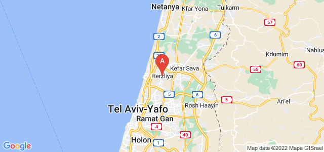 map of Herzliya, Israel