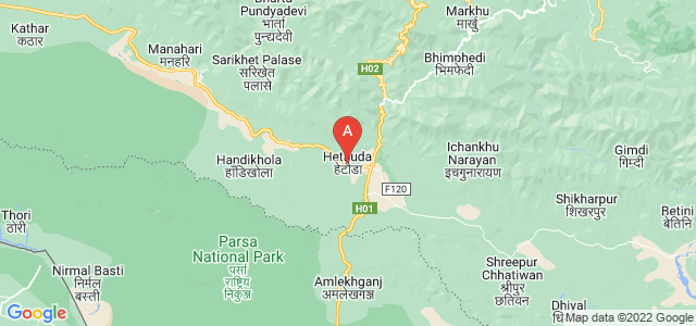 map of Hetauda, Nepal