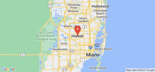 map of Hialeah, United States of America