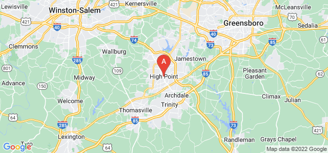 map of High Point, United States of America