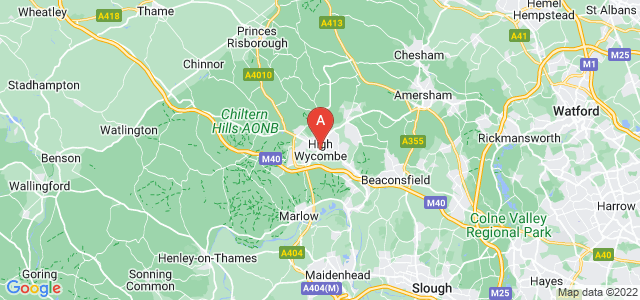 map of High Wycombe, United Kingdom