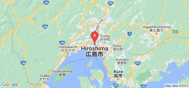 map of Hiroshima, Japan