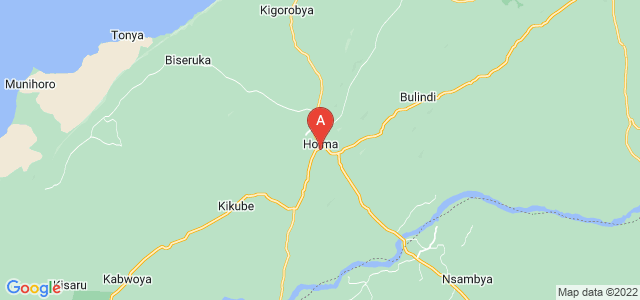 map of Hoima, Uganda
