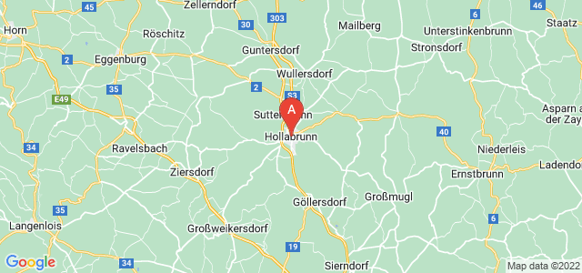 map of Hollabrunn, Austria