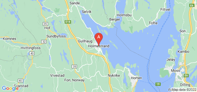 map of Holmestrand, Norway