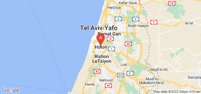 map of Holon, Israel