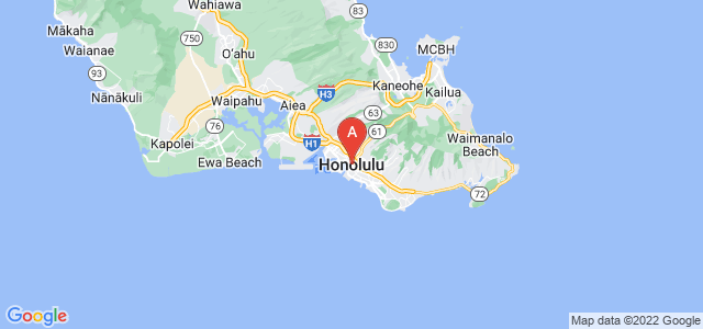 map of Honolulu, United States of America