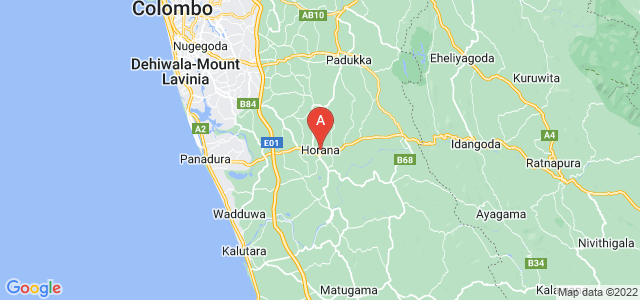 map of Horana, Sri Lanka