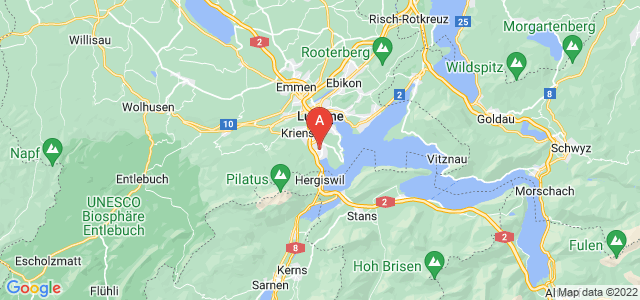 map of Horw, Switzerland
