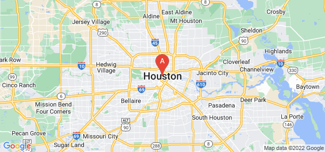 map of Houston, United States of America