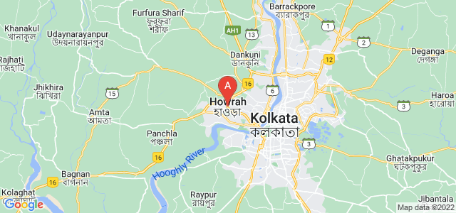 map of Howrah, India