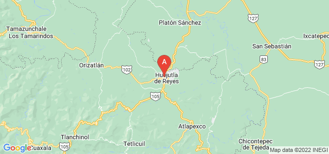 map of Huejutla de Reyes, Mexico