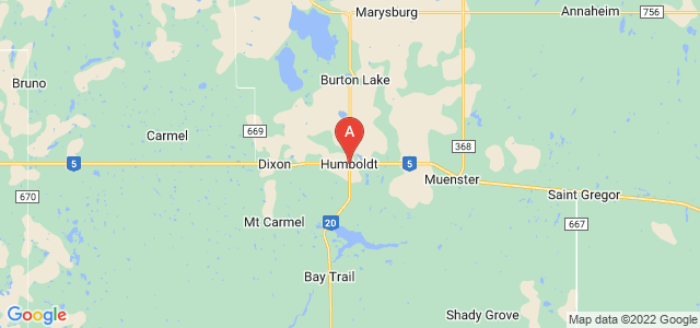 map of Humboldt, Canada