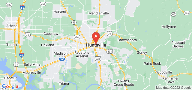 map of Huntsville, United States of America
