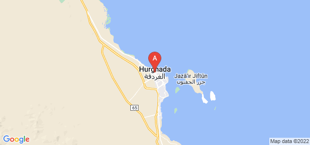 map of Hurghada, Egypt