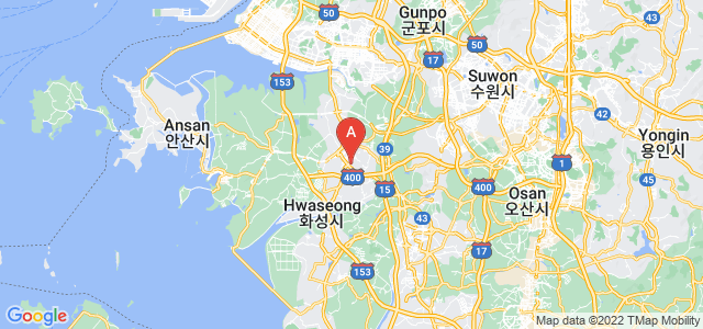 map of Hwaseong, South Korea