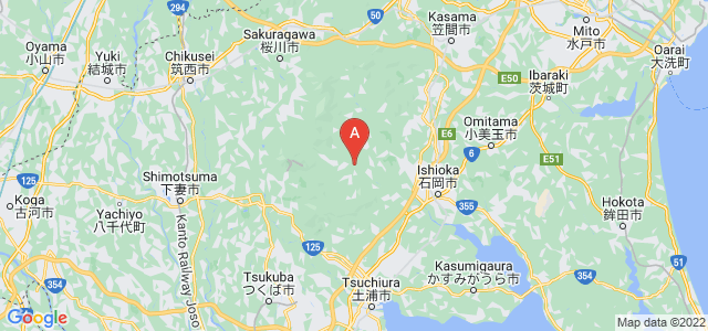 map of Ibaraki, Japan