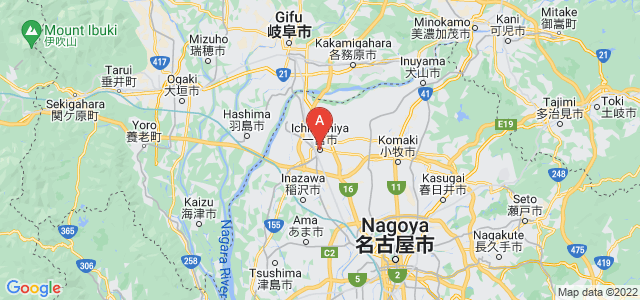 map of Ichinomiya, Japan