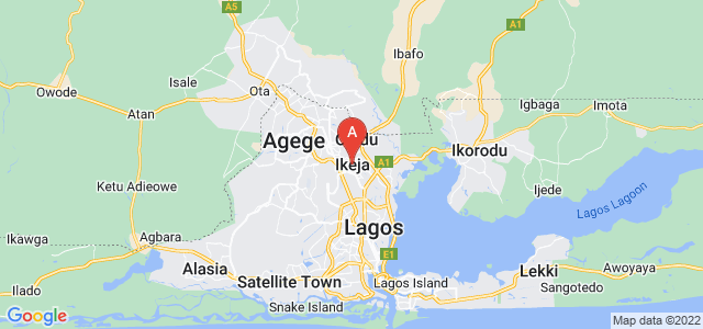 map of Ikeja, Nigeria