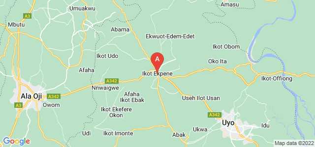 map of Ikot Ekpene, Nigeria