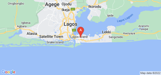 map of Ikoyi, Nigeria