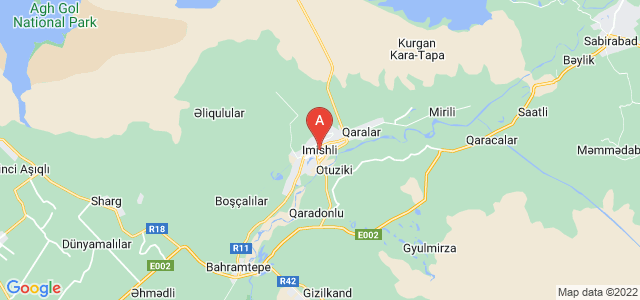 map of Imishli, Azerbaijan
