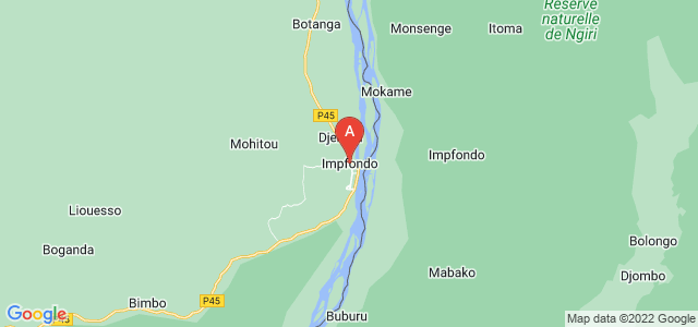 map of Impfondo, Republic of the Congo