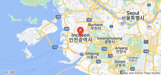 map of Incheon, South Korea