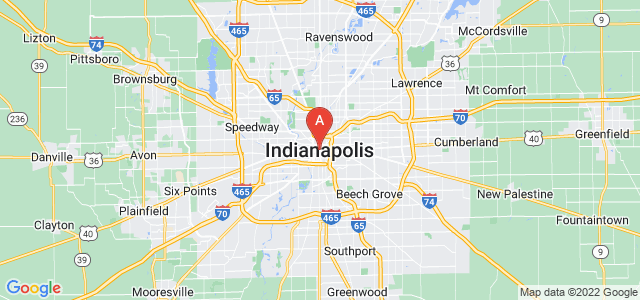 map of Indianapolis, United States of America