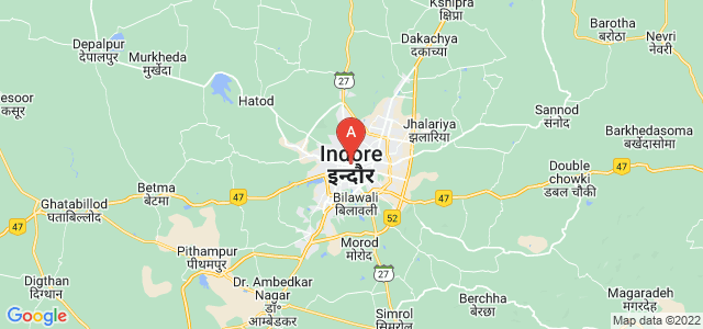 map of Indore, India