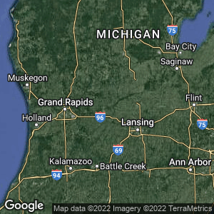 Static Map of Ionia County, Michigan