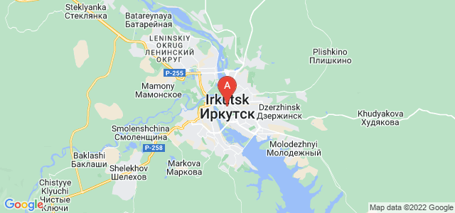 map of Irkutsk, Russia