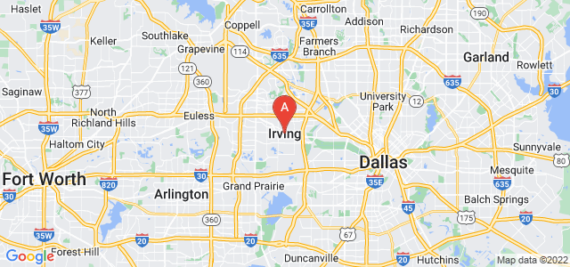 map of Irving, United States of America