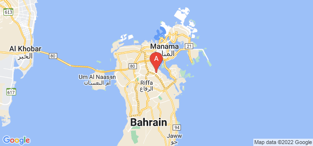 map of Isa Town, Bahrain