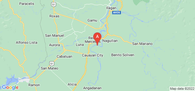 map of Isabela, Philippines