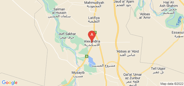 map of Iskandariya, Iraq