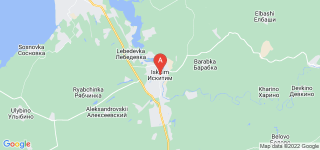 map of Iskitim, Russia