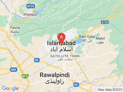 map of Islamabad, Pakistan