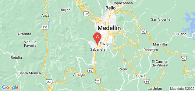 map of Itagüí, Colombia