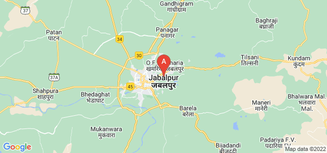 map of Jabalpur, India
