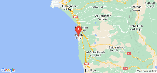 map of Jableh, Syria