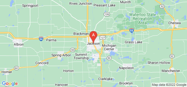 map of Jackson, United States of America