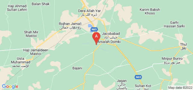 map of Jacobabad, Pakistan