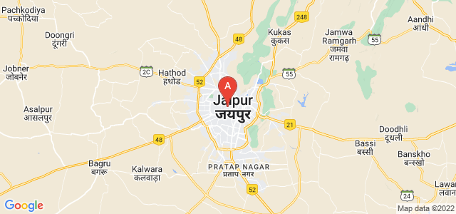 map of Jaipur, India