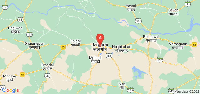 map of Jalgaon, India