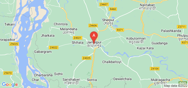 map of Jamalpur, Bangladesh