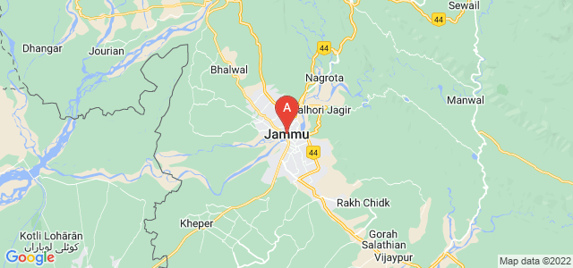 map of Jammu, India
