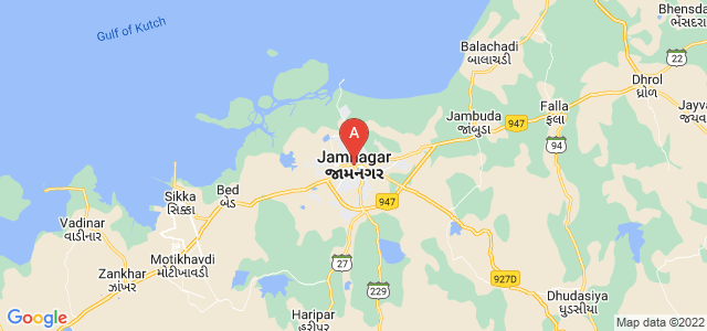 map of Jamnagar, India